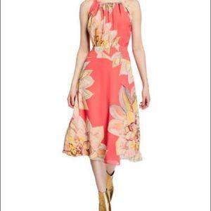 Trina Turk Summery Floral Print Dress